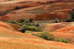 Paesaggio dell'altopiano della campagna del Madagascar Immagine Stock Libera da Diritti