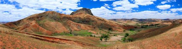 Paesaggio dell'altopiano della campagna del Madagascar Fotografie Stock Libere da Diritti