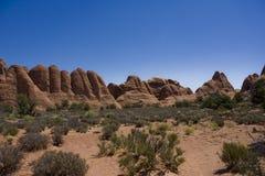 Paesaggio dell'americano del deserto Fotografia Stock Libera da Diritti