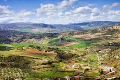 Paesaggio dell'Andalusia in Spagna Fotografia Stock Libera da Diritti