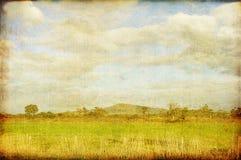 Paesaggio dell'ANNATA illustrazione di stock