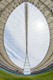 Paesaggio dell'arena del tetto del giacimento dello stadio di football americano Immagini Stock