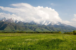 Paesaggio dell'Asia. Il Kirghizistan, Baitik Fotografia Stock Libera da Diritti