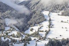 Paesaggio dell'azienda agricola dell'alpe Immagini Stock Libere da Diritti