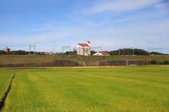 Paesaggio dell'azienda agricola nel Giappone Immagine Stock