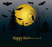 Paesaggio dell'azzurro di Halloween. Fotografia Stock