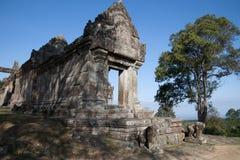 Paesaggio dell'entrata orientale a Gopura IV al complesso del XI secolo del tempio di Preah Vihear Fotografia Stock Libera da Diritti