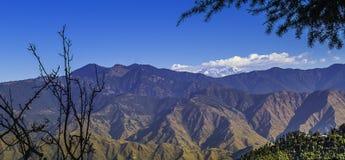 Paesaggio dell'Himalaya, Mussoorie Fotografie Stock