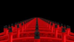 Paesaggio dell'incrocio rosso del ponte nel Giappone Ponte shintoista r royalty illustrazione gratis