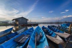 Paesaggio dell'Indonesia a rawapening Java centrale immagini stock libere da diritti
