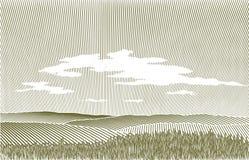 Paesaggio dell'intaglio in legno Fotografia Stock Libera da Diritti