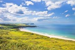 Paesaggio dell'Irlandese nella contea Antrim - re unito dell'Irlanda del Nord fotografie stock