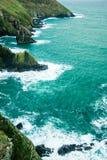 Paesaggio dell'Irlandese. sughero atlantico della contea della costa della linea costiera, Irlanda Fotografia Stock