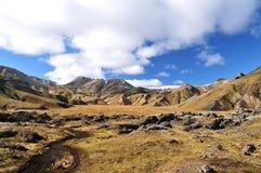 Paesaggio dell'Islanda, Landmannalaugar fotografia stock libera da diritti
