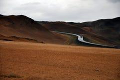 Paesaggio dell'Islanda vicino a Krafla Fotografie Stock Libere da Diritti