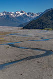 Paesaggio dell'isola del sud della Nuova Zelanda Immagini Stock