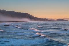 Paesaggio dell'isola del sud della Nuova Zelanda Fotografie Stock Libere da Diritti