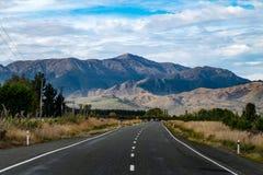 Paesaggio dell'isola del sud della Nuova Zelanda Fotografia Stock