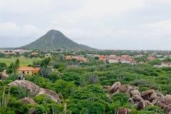 paesaggio dell'isola dell'Aruba Fotografia Stock Libera da Diritti