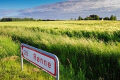 Paesaggio dell'isola della Bornholm Immagine Stock Libera da Diritti