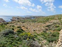 Paesaggio dell'isola di Comino fotografia stock libera da diritti