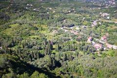 Paesaggio dell'isola di Corfù fotografia stock libera da diritti