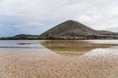 Paesaggio dell'isola di Floreana nel Galapagos fotografia stock
