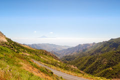Paesaggio dell'isola di Gomera della La Fotografia Stock Libera da Diritti
