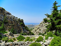 Paesaggio dell'isola di Kos in Grecia Immagini Stock