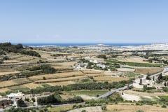 Paesaggio dell'isola di Malta Fotografia Stock
