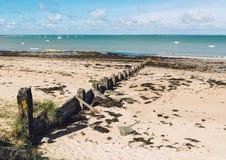 Paesaggio dell'isola di Noirmoutier, Francia Fotografia Stock Libera da Diritti
