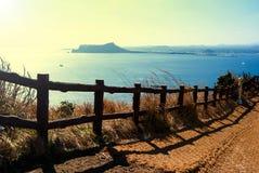 Paesaggio dell'isola di Udo nell'isola di Jeju, Corea del Sud Fotografia Stock Libera da Diritti