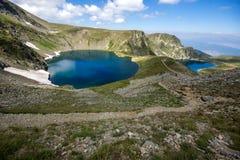 Paesaggio dell'occhio e dei laghi kidney, i sette laghi Rila, Bulgaria Fotografia Stock Libera da Diritti