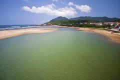 Paesaggio dell'oceano Fotografia Stock