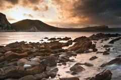 Paesaggio dell'oceano di alba di Bbeautiful Immagine Stock Libera da Diritti