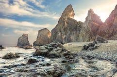 Paesaggio dell'oceano Pacifico, vista sul mare selvaggia Fotografia Stock
