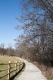 Paesaggio dell'Ohio con la traccia Immagine Stock