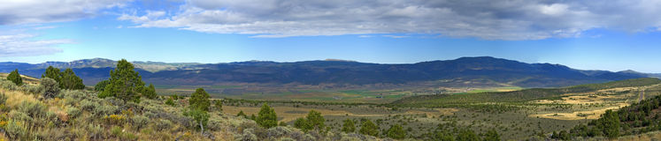 Paesaggio dell'Utah fuori dall'Utah Hwy 25 Immagini Stock