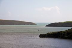Paesaggio della baia di Kinsale, Irlanda Fotografie Stock Libere da Diritti