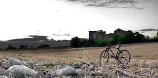Paesaggio della bicicletta Fotografia Stock
