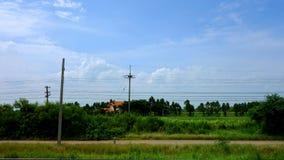 Paesaggio della campagna dal treno Fotografia Stock