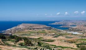 Paesaggio della campagna del paesaggio maltese, Malta, paesaggio a Malta Immagini Stock
