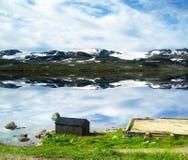 Paesaggio della campagna del ` s della Norvegia Immagini Stock Libere da Diritti