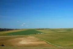 Paesaggio della campagna dell'Inghilterra verso il sud/del Sussex fotografia stock