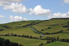 Paesaggio della campagna della costa giurassica di Dorset Fotografie Stock