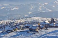 Paesaggio della campagna di inverno Immagini Stock