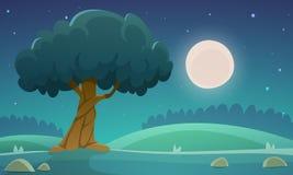 Paesaggio della campagna di notte illustrazione vettoriale
