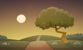 Paesaggio della campagna di notte royalty illustrazione gratis