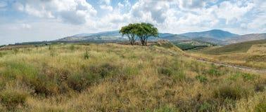 Paesaggio della campagna nella valle di hula Fotografia Stock