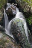 Paesaggio della cascata di Becky Falls nell'inglese del parco nazionale di Dartmoor fotografie stock